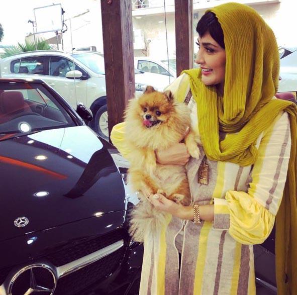 مریم معصومی و سگش