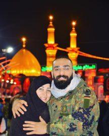 حمید صفت و مادرش در کربلا