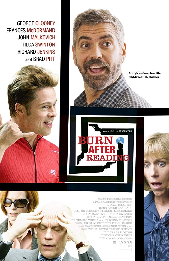 کاور فیلم Burn After Reading 2008